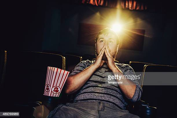 Lone man at the movies