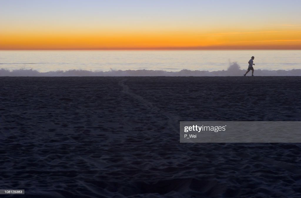 Lone Runner : Stock Photo