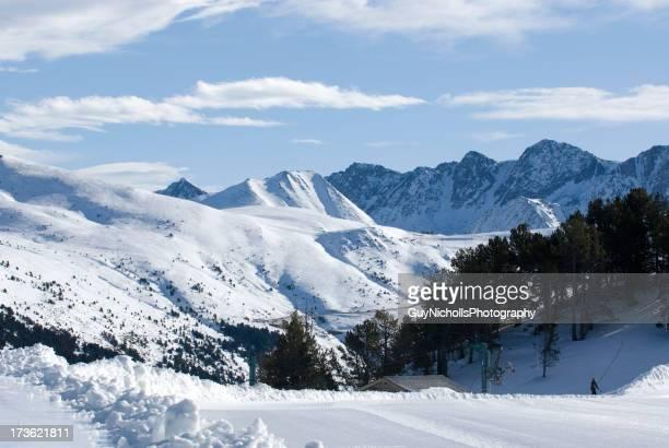 Lone esquiador