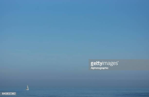 A lone yacht on the North Sea