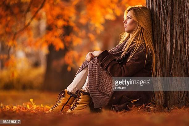 Einsamkeit im Herbst.