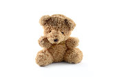 lonely bear doll isolate
