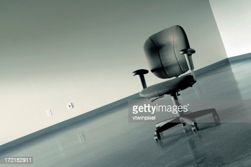 Lonely chair in empty office