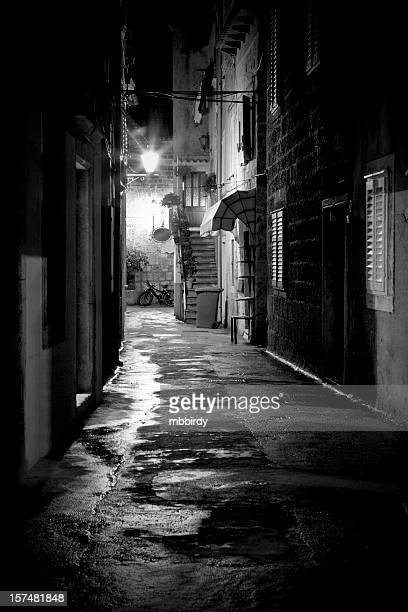 Lonely dark alley