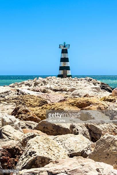 Lonely lighthouse on Portugise coastline