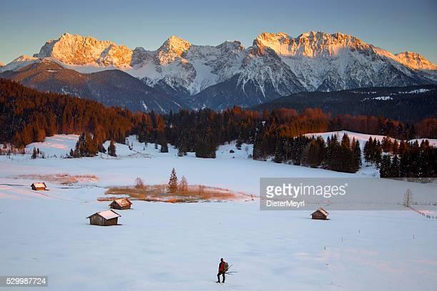 Einsam Fotograf im Winter am See Gerold