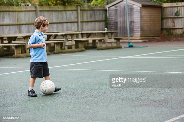 Lonely School Yard Soccer