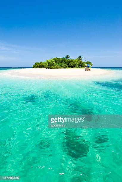 Lonely tropical island in the Caribbean