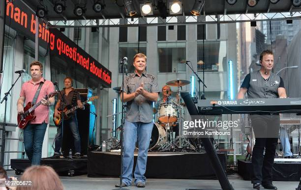 Lonestar performs during 'FOX Friends' All American Concert Series outside of FOX Studios on May 31 2013 in New York City