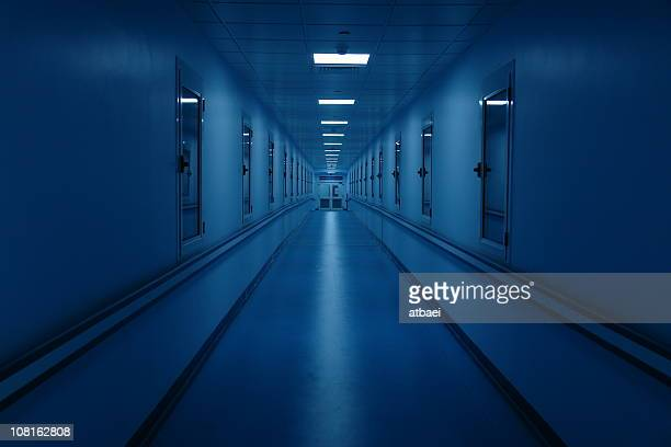 Long and Dark Hospital Hallway