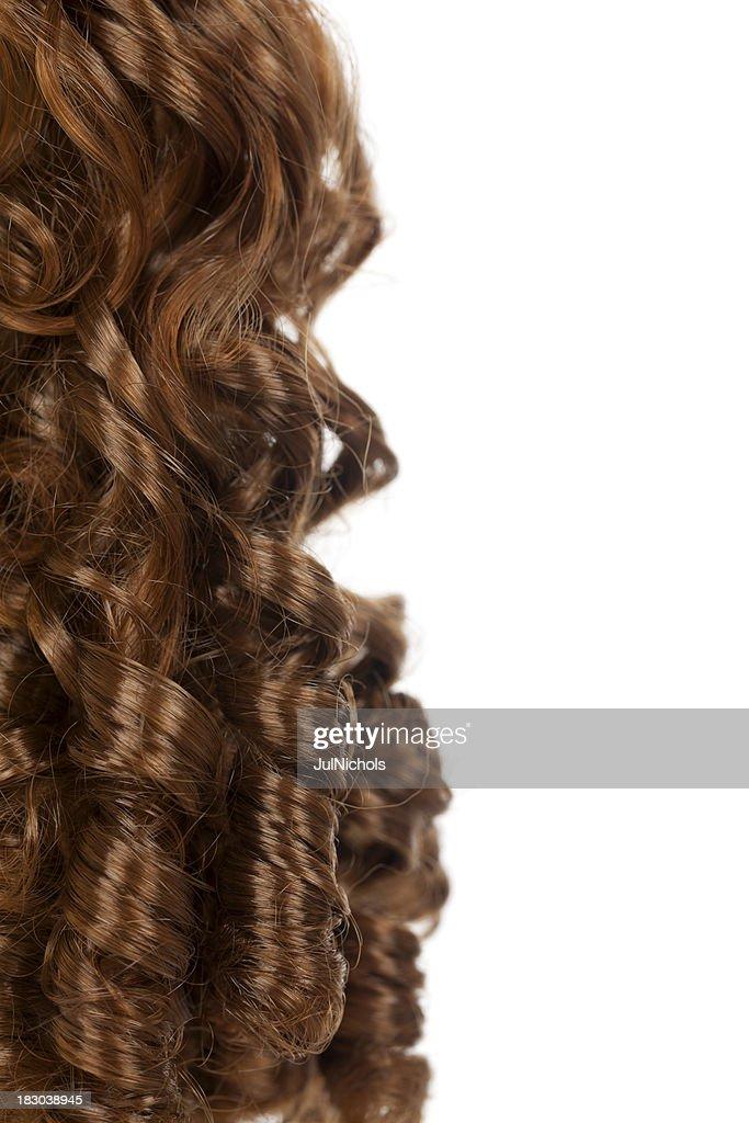 Long Auburn Hair with Ringlets
