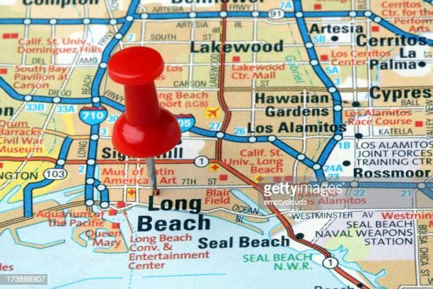 Long Beach, California on a map.