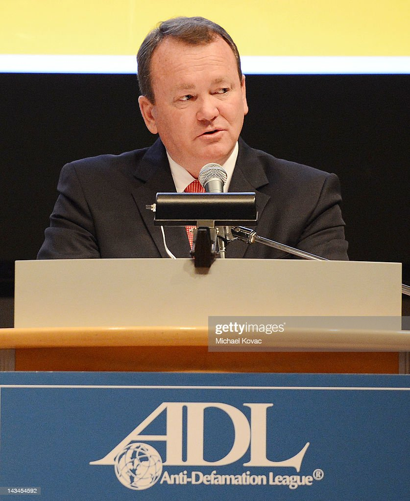 Long Beach Police Chief Jim McDonnell presents onstage at The Anti-Defamation League Deborah Awards at the Skirball Cultural Center on April 26, 2012 in Los Angeles, California.
