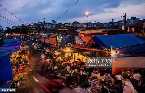 Long Bien Market at sunrise, Hanoi, Vietnam