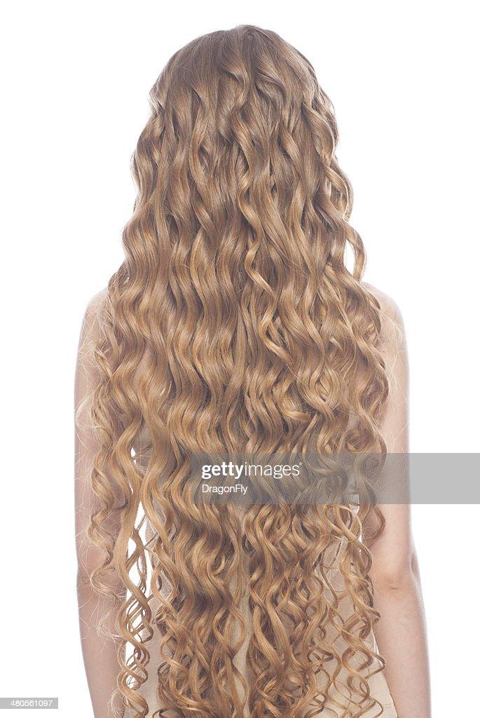 Long blond hair : Stock Photo