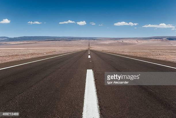 Long desert road in Atacama