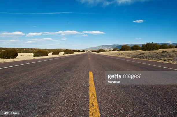 Long Desert Road in New Mexico