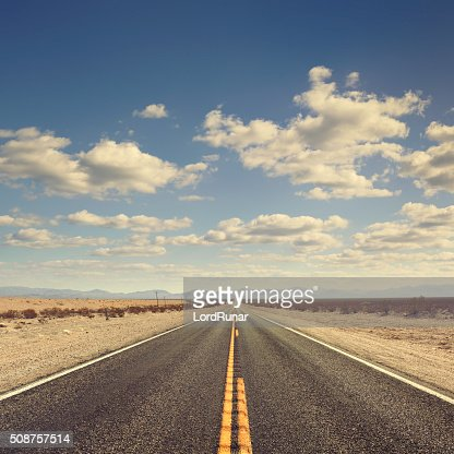 Long desert road
