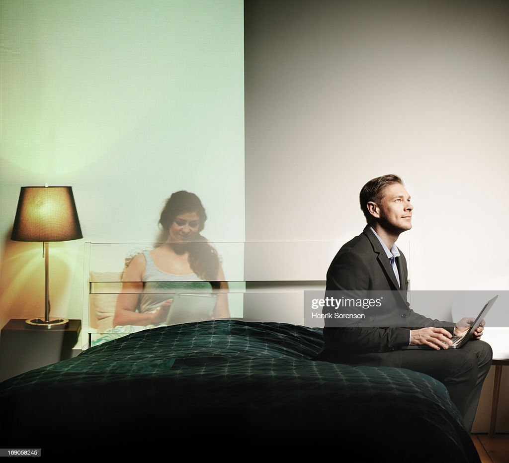 Long distance relationship : Stock Photo
