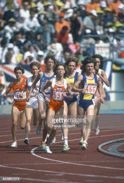 Long Distance runner Mary Decker of the United States competes during the Games of the XXIV Olympiad at the 1988 Summer Olympics circa 1988 in Seoul...