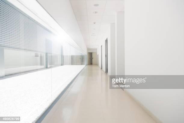 Long empty corridor