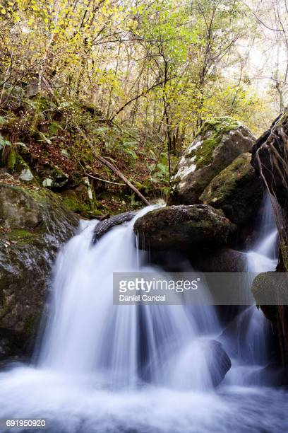 Long exposure of a small waterfall in the mountain