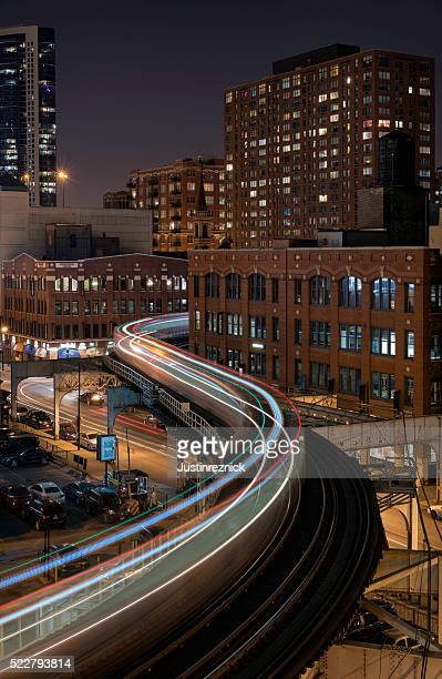 Long Exposure of Chicago's L Train