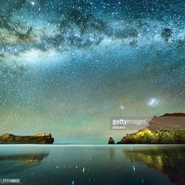 Longa exposição de estrelas