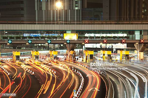 Long exposure of toll plaza