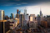 Long exposure of Toronto skyscrapers