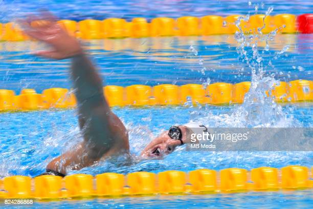 Long exposure picture of Paulina Piechota during the Budapest 2017 FINA World Championships on July 28 2017 in Budapest Hungary