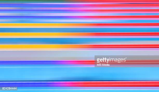 Long exposure picture of swimming pool during the Budapest 2017 FINA World Championships on July 28 2017 in Budapest Hungary