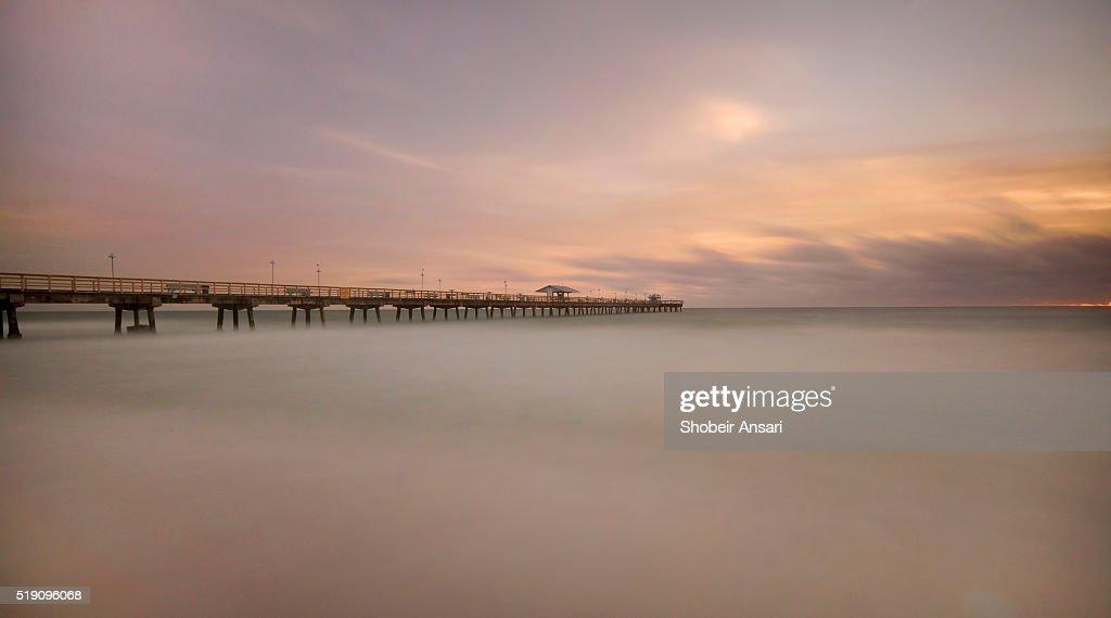Long exposure shot of Dania Beach Pier