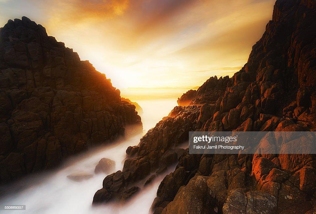 Long Exposure Sunset Pantai Semeti