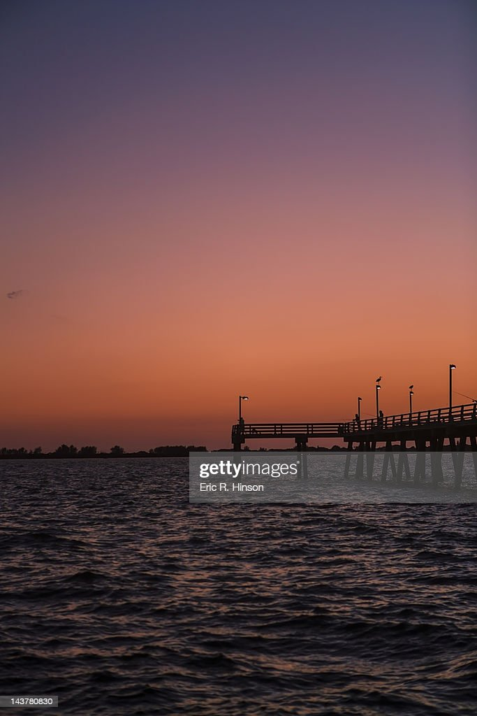 Long fishing pier florida stock photo getty images for Fishing piers in florida