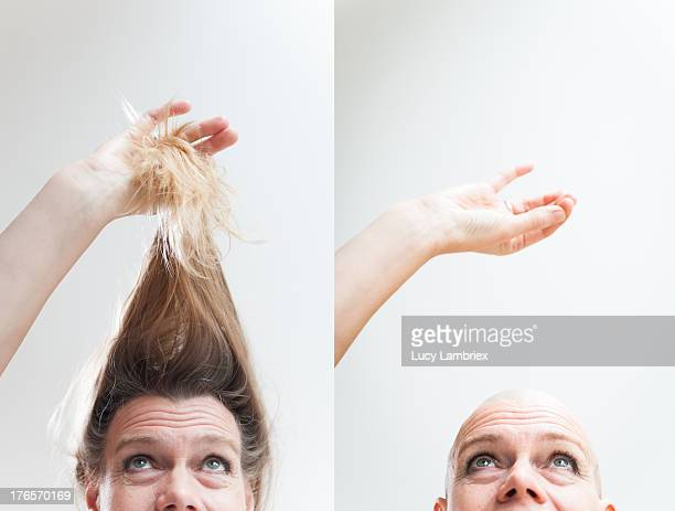 Long hair / bald head: less is more