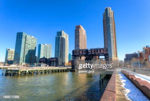 'Long Island city gantry cranes, New York'