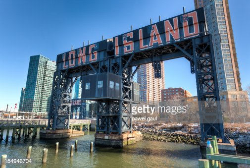 long island city pier new york stock photo getty images. Black Bedroom Furniture Sets. Home Design Ideas
