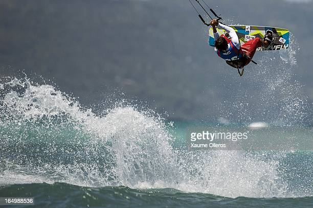 Long Nguyen Duc of Vietnam competes on freestyle during day five of the KTA at Boracay Island on March 30 2013 in Makati Philippines