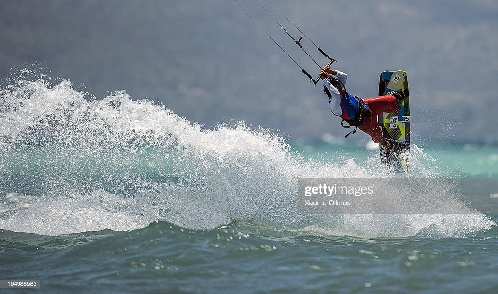 Long Nguyen Duc of Vietnam competes on freestyle during day five of the KTA at Boracay Island on March 30, 2013 in Makati, Philippines.