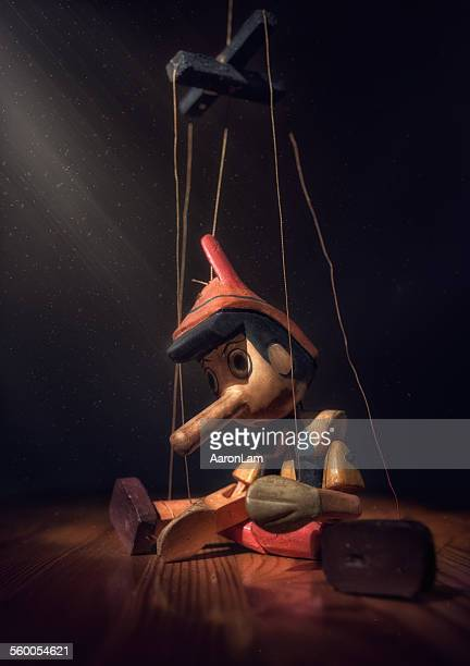 A long nose lying Pinocchio