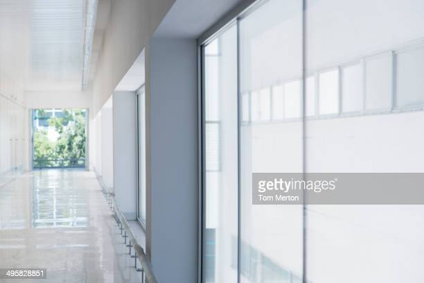 Long office corridor
