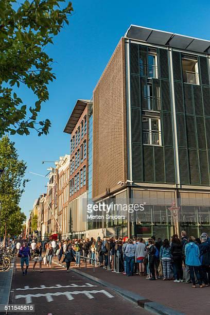 Long queue outside Anne Frank house