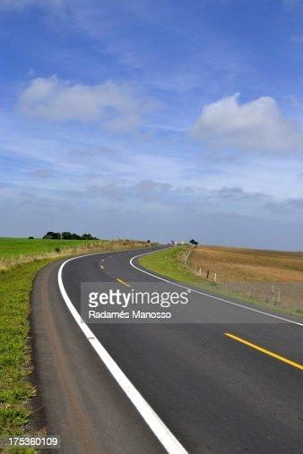 Long road, long trip : Foto de stock