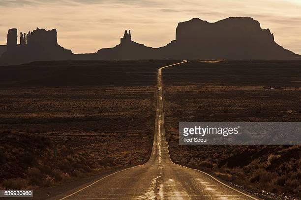 A long rode in to Monument Valley This spot was also made famous in the film Forrest Gump'