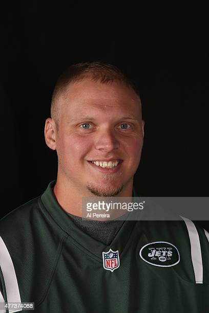 Long Snapper Tanner Purdum of the New York Jets appears in a portrait on June 16 2015 in Florham Park New Jersey