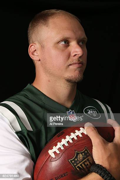 Long Snapper Tanner Purdum of the New York Jets appears in a portrait taken in 2016 in Florham Park New Jersey