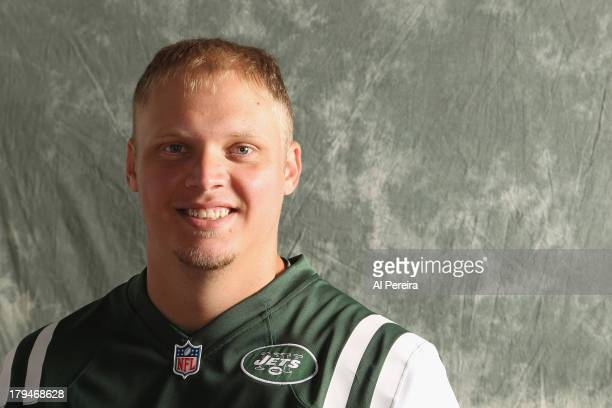 Long Snapper Tanner Purdum of the New York Jets poses during a portrait session on September 1 2013 in Florham Park New Jersey
