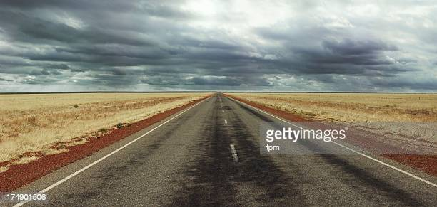 Long straight Road on Australia's Stuart Highway