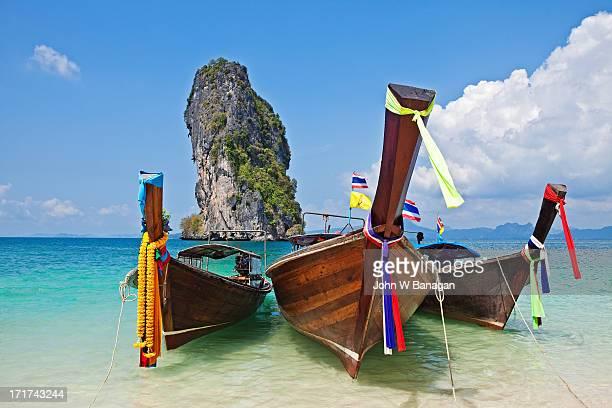 Long tail boats, Koh Poda, Krabi